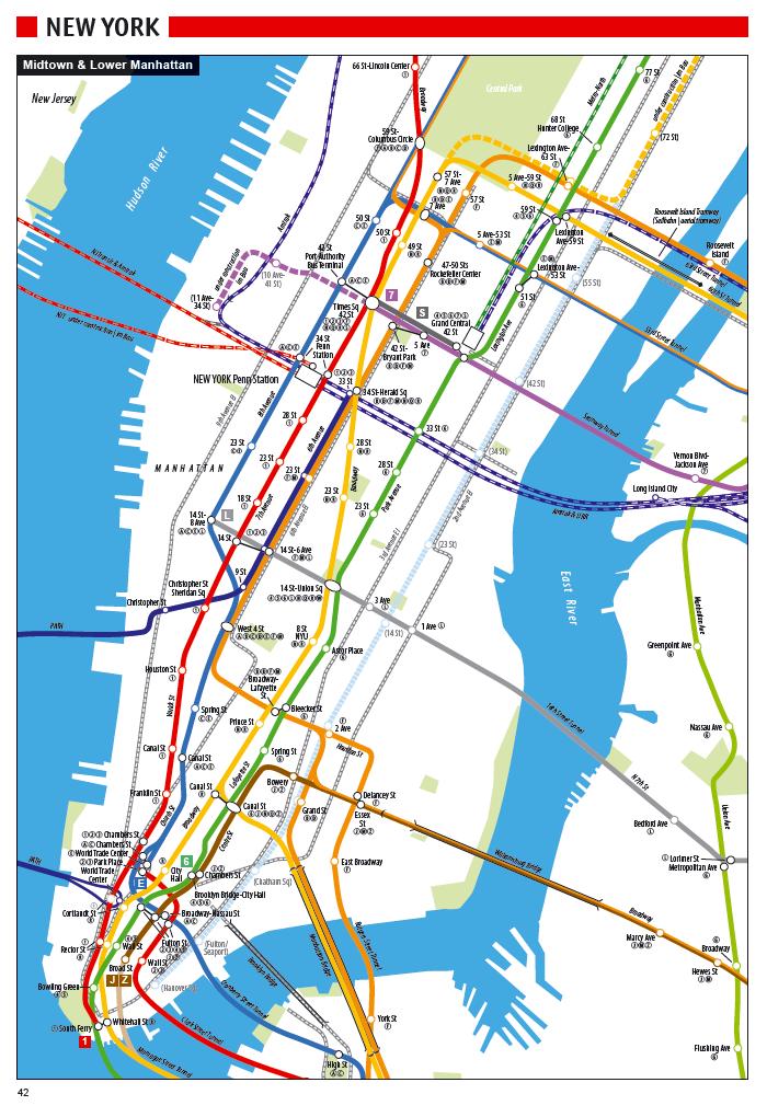 U Bahn Karte New York.New York City U Bahn Plan